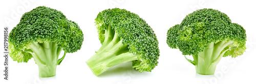 Leinwanddruck Bild raw broccoli isolated