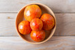 Quadro Red - yellow tomatoes on wooden background