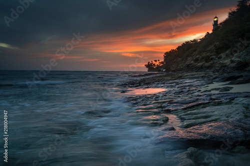 Canvas Zee zonsondergang sunset glow