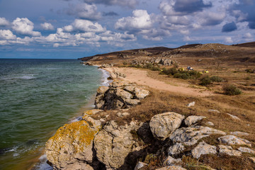 Wild beach on the Black Sea in the Crimea © Aleksey