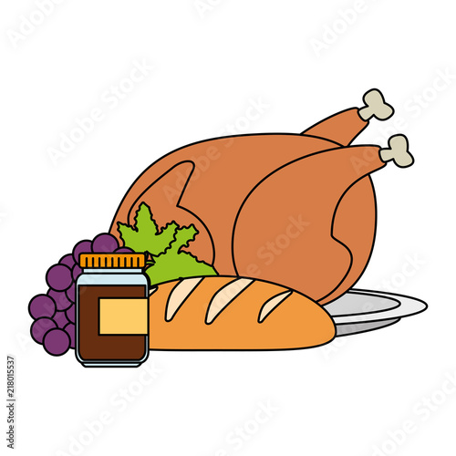 Chicken Meat And Healthy Food Vector Illustration Design Buy