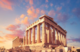 Parthenon on the Acropolis in Athens, Greece, on a sunset - 218021187