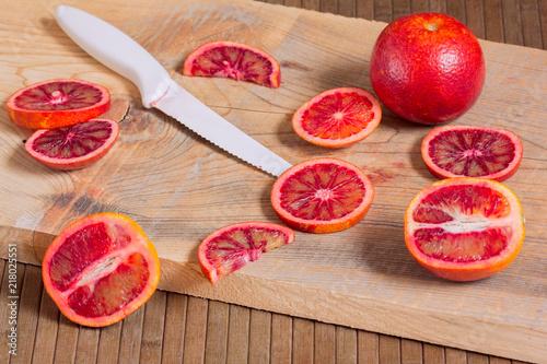 Aluminium Sap cut Sicilian oranges