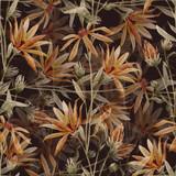 Watercolor floral vector pattern - 218029141