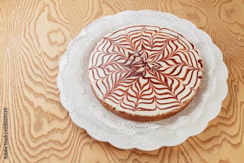 Esterhazy cake close up top view