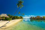 Tropical resort with amazing lagoon on Moorea, French Polynesia