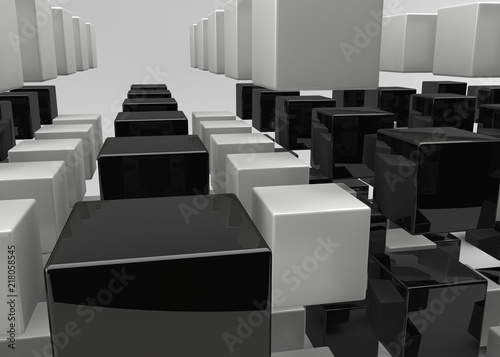 abstract 3D illustration - 218058545
