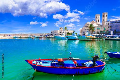 Fotobehang Freesurf Molfetta - coastal town in Puglia with beautiful sea and beaches. Italian summer holidays