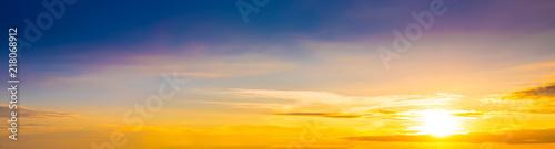 obraz lub plakat Wonderful sunset as background