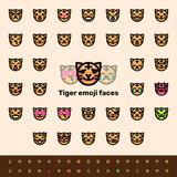 Flat tiger emojis