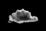 Single cloud isolated on black background