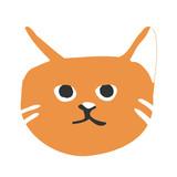 Cute kitty cat face nursery animal pet