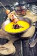 Kürbiscremesuppe mit Chicken