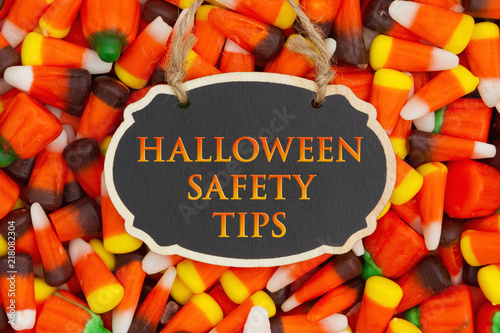 halloween safety tips message