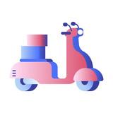 Scooter gradient illustration