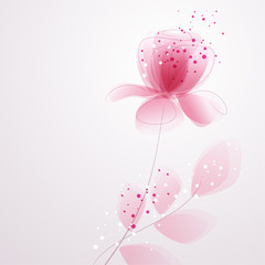 vector background with Flower 15