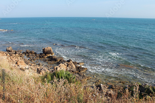 Plexiglas Palermo Paysage de Sicile, bord de mer