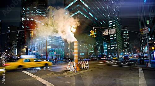 nigth streets in New York city