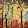 Gemälde Herbstwald - 218108191
