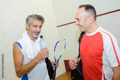 Foto Murales men playing squash
