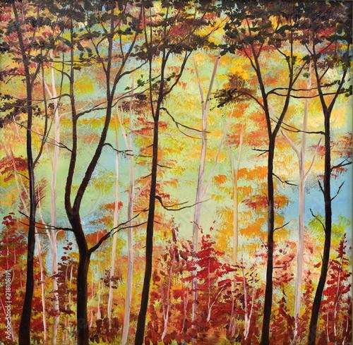 Gemälde Herbstwald © sunnychicka