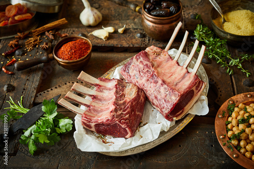 Two racks of lamb for preparing Oriental chops © exclusive-design