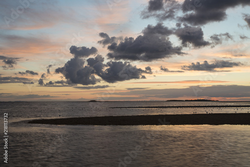 Canvas Zee zonsondergang West Kirby Sunset
