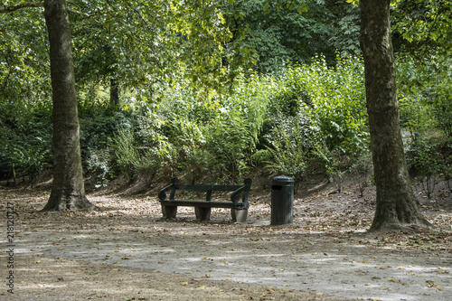 Fotobehang Weg in bos Banco de Jardim