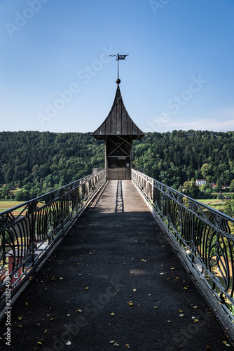 Foto Murales Bad Schandau art-noveau elevator and observatory tower