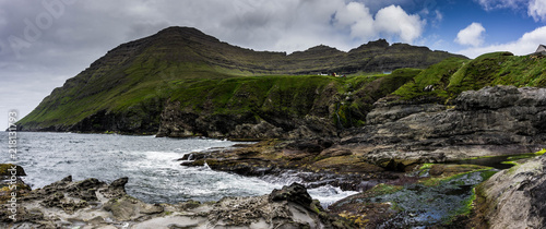 Panoramic shot of the faroese landscape