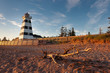 West Point lighthouse in Prince Edward Island at sunset