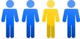 Personas muñecos de colores separado - 218134784