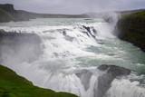 View of Gullfoss waterfall ,Iceland summer.