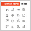 Marketing icons. Set of  line icons. Career, growth, open around the clock service. Management concept. Vector illustration can be used for topics like business, analytics, strategy
