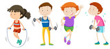 A set of children weight training - 218155778