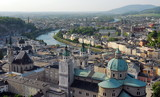 Austria. Salzburg. View of the neighborhood from the fortress of Hohensalzburg. - 218157723