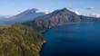Quadro Batur Lake and volcano from east caldera landscape view,Bali island,Indonesia