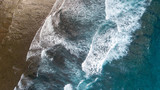 Aerial: ocean surface waves view