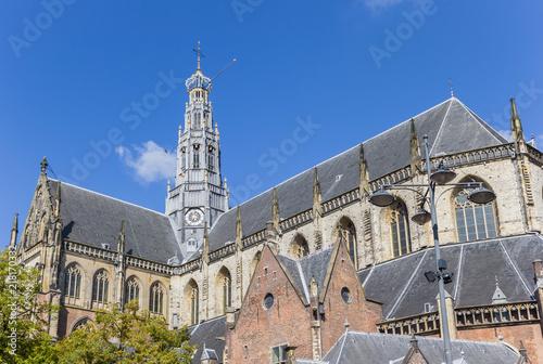 St Bavo kościół w centrum Haarlem, holandie