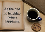 At the end of hardship comes happiness. - 218173176