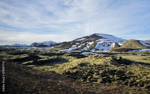 Canvas Blauwe hemel Iceland