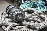 Boat  gears and ropes - 218187541
