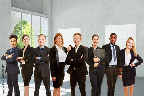 Sticker Gruppe Business Unternehmer als Team