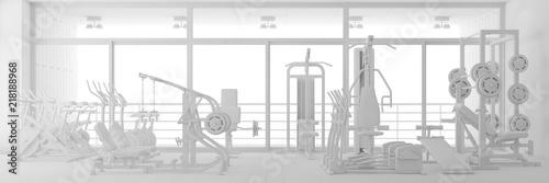 Sticker CAD Planung von Fitnesscenter