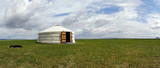 yurt , in the grassland of Mongolia