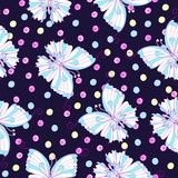 Butterfly vector seamless pattern for textile, packaging, Wallpaper.