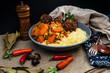 Moroccan beef kefta meatballs meatball and semolina