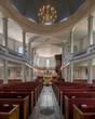 Interior of the historic St. George's (Round) Church in Halifax, Nova Scotia