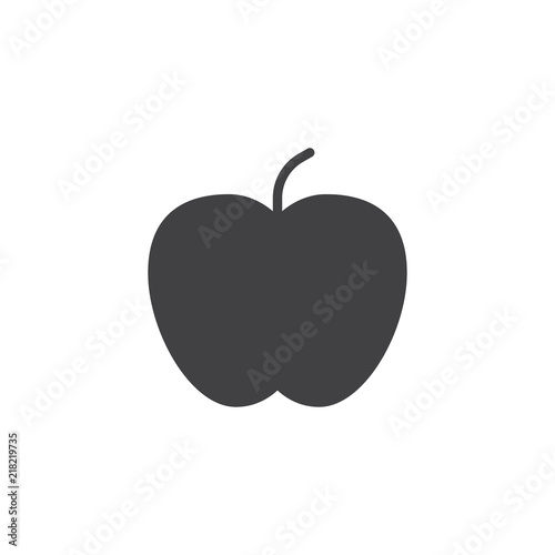 Apple vector icon. filled flat sign for mobile concept and web design. Healthy Fruit simple solid icon. Symbol, logo illustration. Pixel perfect vector graphics - 218219735