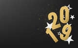 happy new year 2019 vector design - 218222106